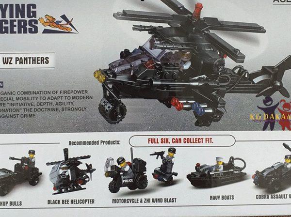 اسباب بازی لگو 6 عددی ماشین های پلیس ضربت