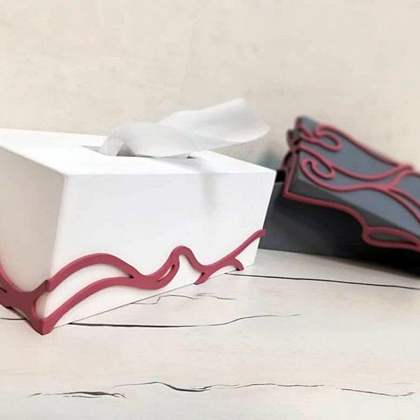 جای دستمال کاغذی طرح شکلات