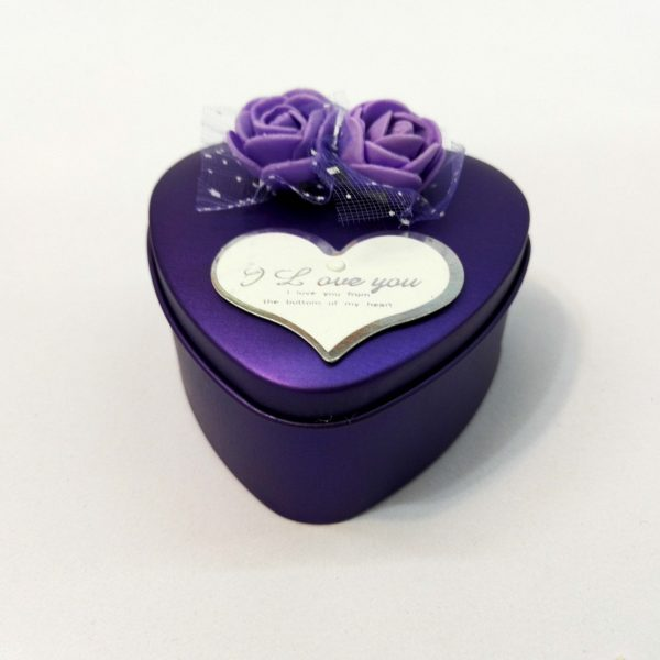 جعبه فلزی کوچک ولنتاین (جعبه ولنتاین طرح قلب)
