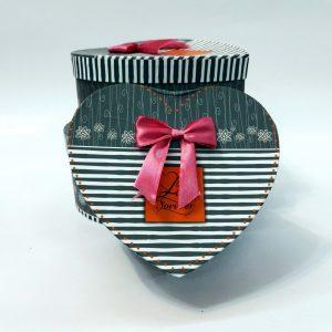 جعبه کادو هدیه ولنتاین(جعبه کادو هدیه طرح قلب) سایز ۳