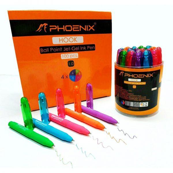 خودکار رنگی کوتاه فونیکس