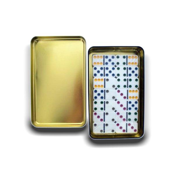 دومینو نقطه جعبه فلزی