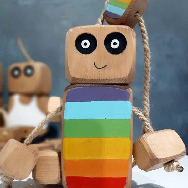 عروسک روودی رنگین کمانی