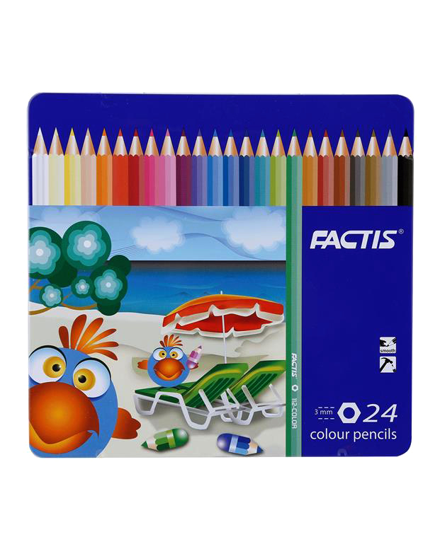 مداد رنگي 24 فلزي فکتيس