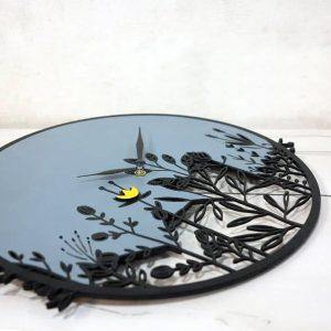 ساعت دیواری چوبی طرح گل koala accessories