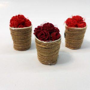 هدیه ولنتاین سبد گل عاشقانه ( سبد گل کوچک )