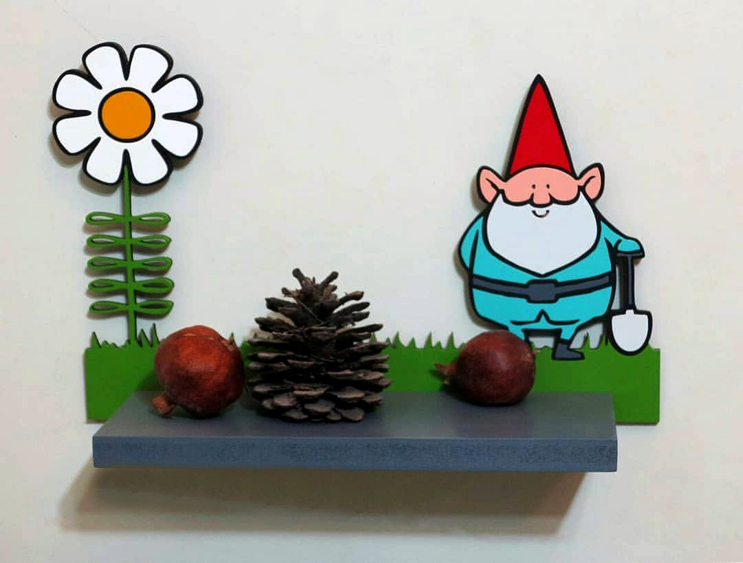 شلف چوبی دیواری کودکانه بابانوئل