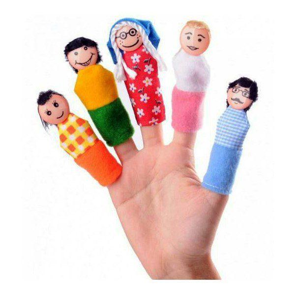 عروسک انگشتی خانواده 5عددی