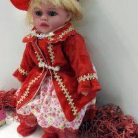 عروسک آوازخوان جعبه دار سرامیکی سایز 22