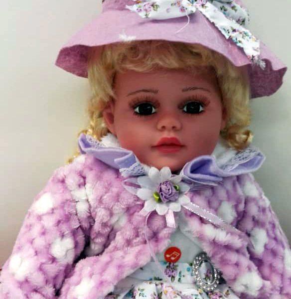 عروسک آوازخوان جعبه دار سرامیکی سایز 24