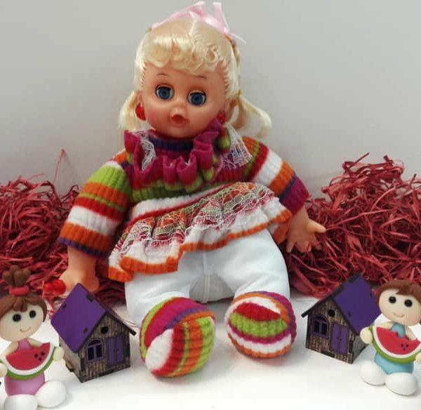 عروسک شیشه شیردار لباس رنگی
