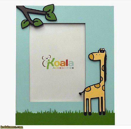 قاب عکس چوبی کودکانه طرح زرافه koala accessories