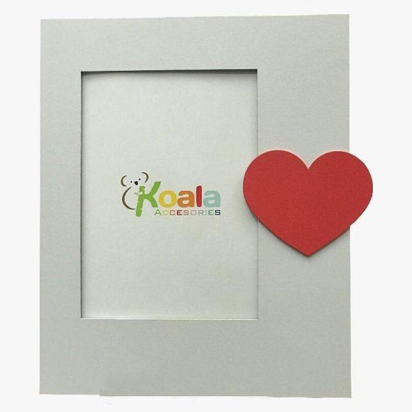 قاب عکس چوبی کودکانه طرح قلب koala accessories
