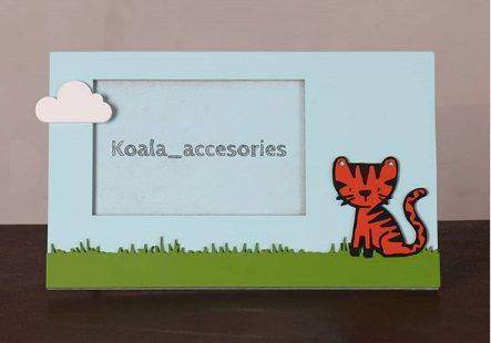 قاب عکس چوبی کودکانه طرح گربه koala accessories