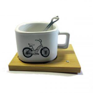 ماگ فنجانی طرح دار سرامیکی (ماگ طرح دوچرخه)