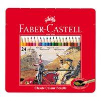 کلاسیک جعبه فلزی 24 رنگ 1 1 201x201 - مدادرنگی کلاسیک - جعبه فلزی 24 رنگ فابرکاستل