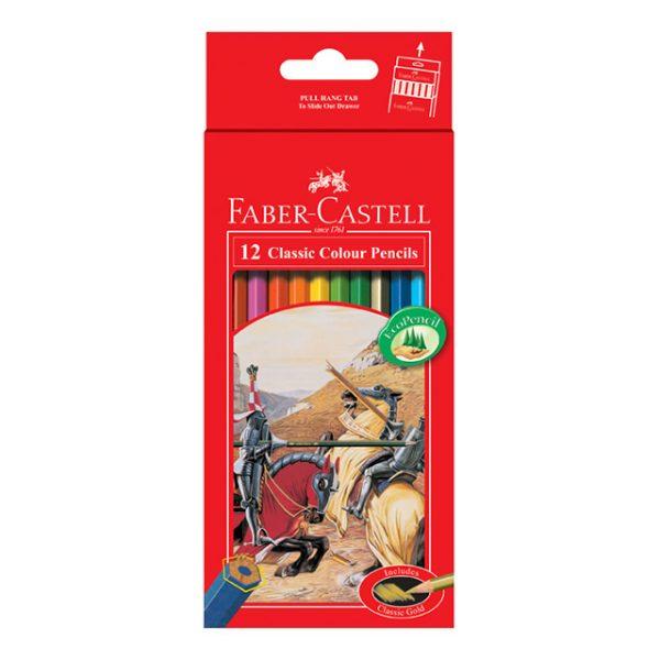 کلاسیک جعبه مقوایی 12 رنگ 1 1 600x600 - مداد رنگی کلاسیک جعبه مقوایی 12 رنگ فابرکاستل