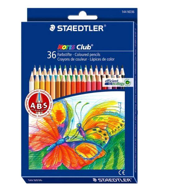 مداد رنگي 36 مقوايی استدلر