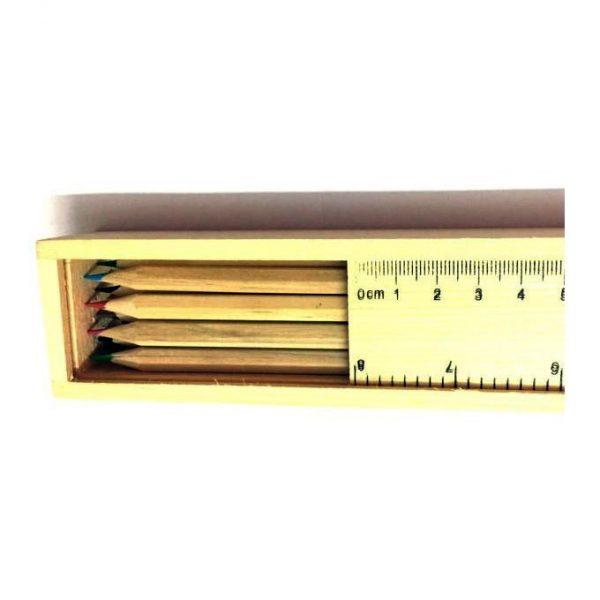 مداد رنگی جعبه چوبی