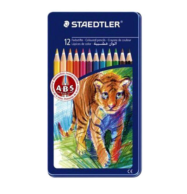 مداد رنگی 12 فلزی استدلر