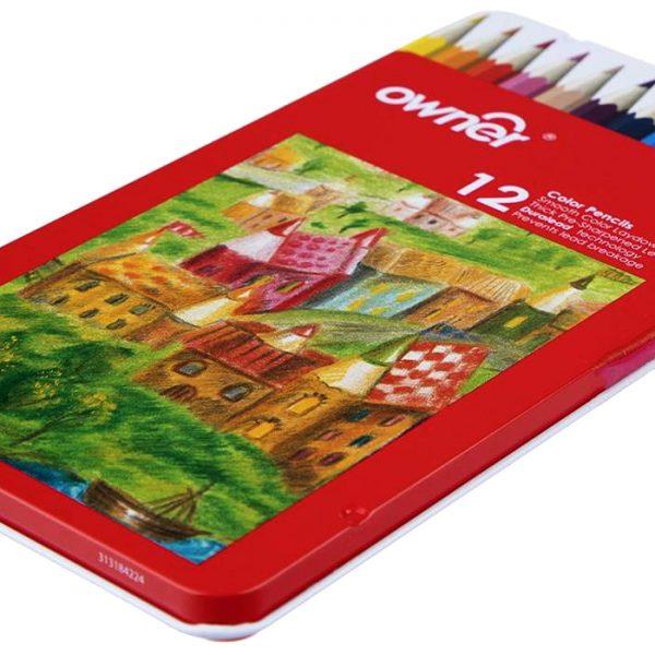 مداد رنگی 12 فلزی انر