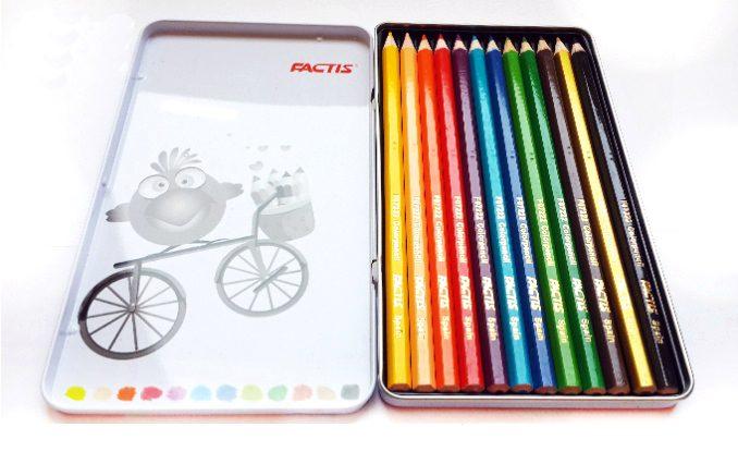 مداد رنگي 12 فلزي فکتيس