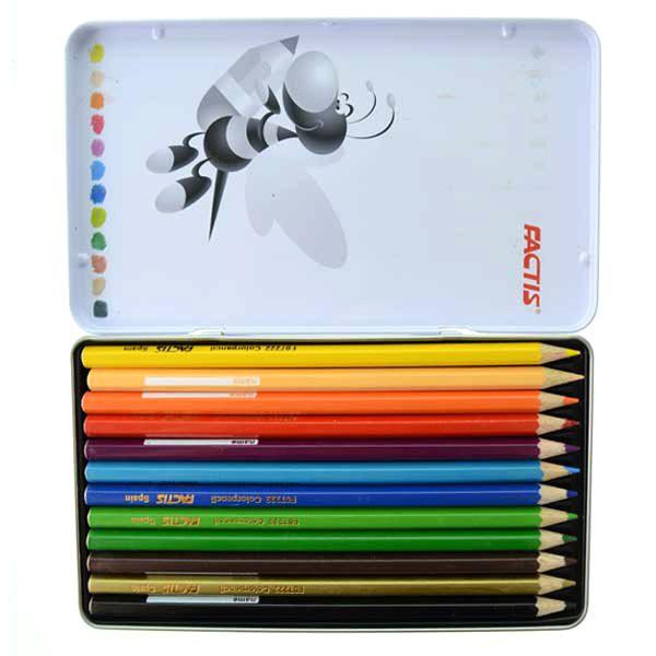 مداد رنگی 12 فلزی فکتیس