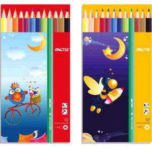 مداد رنگی ۱۲ فلزی فکتیس