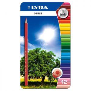 مداد رنگی ۱۲ فلزی لیرا