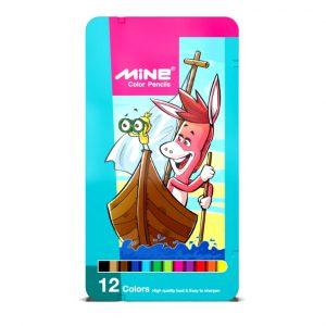 مداد رنگی ۱۲ فلزی ماین