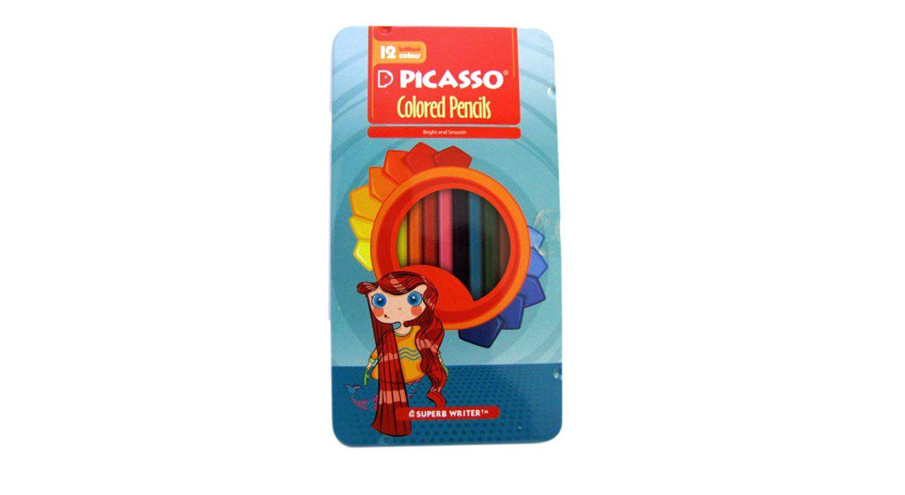 مداد رنگی 12 فلزی پيکاسو