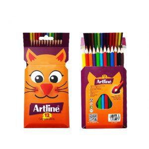 مداد رنگی ۱۲ مقوایی آرتلاین