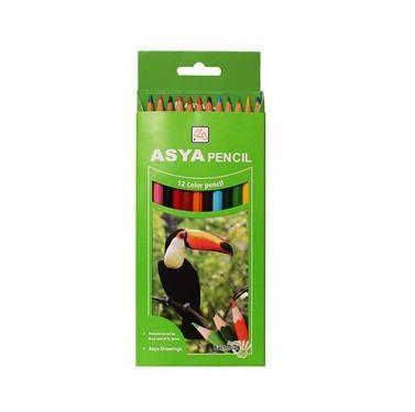 مداد رنگی 12 مقوایی آسیا