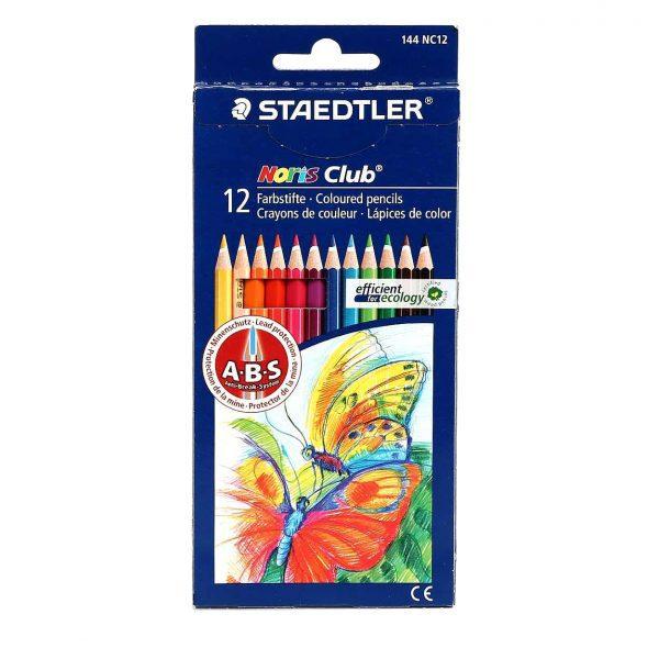 مداد رنگی 12 مقوایی استدلر