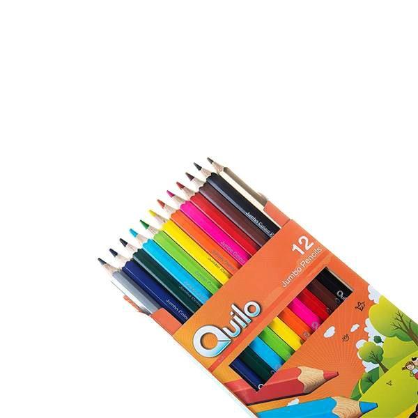 مداد رنگی 12 مقوایی جامبو کویلو