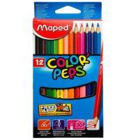 مداد رنگی 12 مقوايی مپد