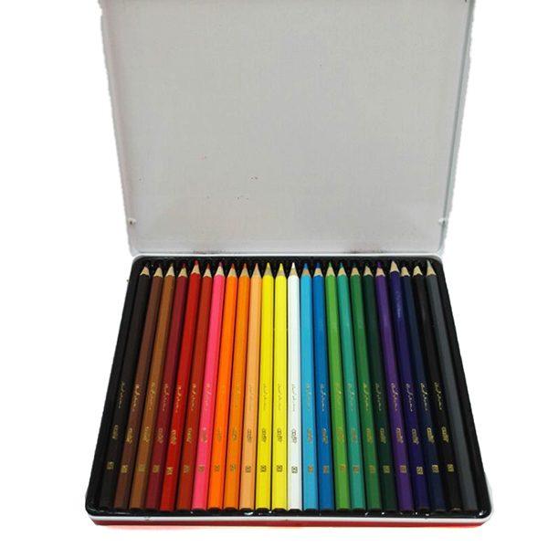 مداد رنگی 24 فلزی شکرستان
