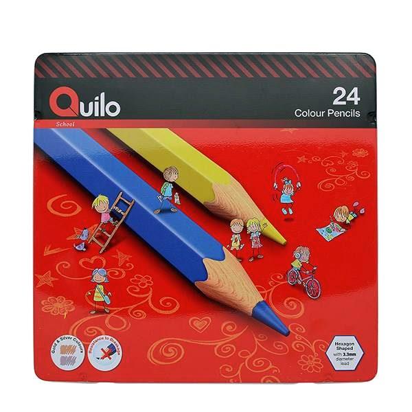 مداد رنگی 24 فلزی کویلو