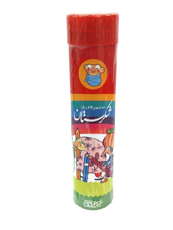 مداد رنگی 24 لوله ای شکرستان