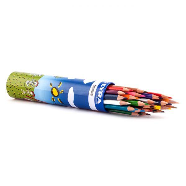مداد رنگی 24 لوله ای لیرا