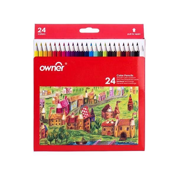 مداد رنگی 24 مقوايی انر