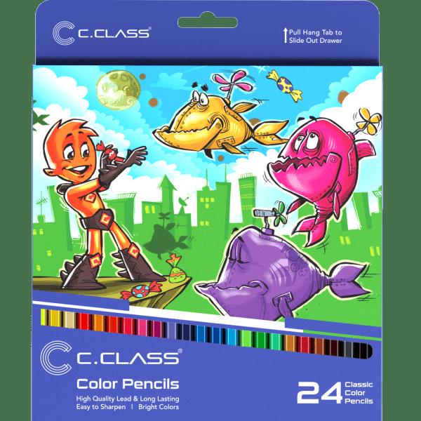 مداد رنگی24مقوایی سی کلاس