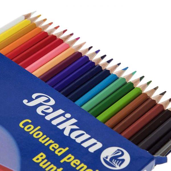 مداد رنگی 24 مقوایی پلیکان