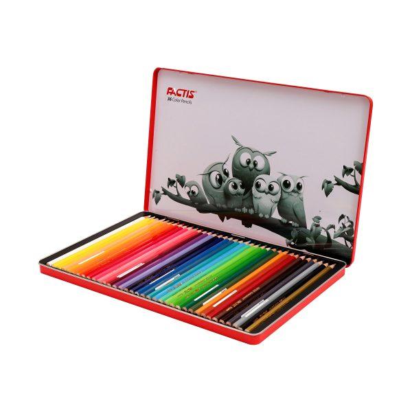مداد رنگی 36 رنگ فکتیس جعبه فلزی