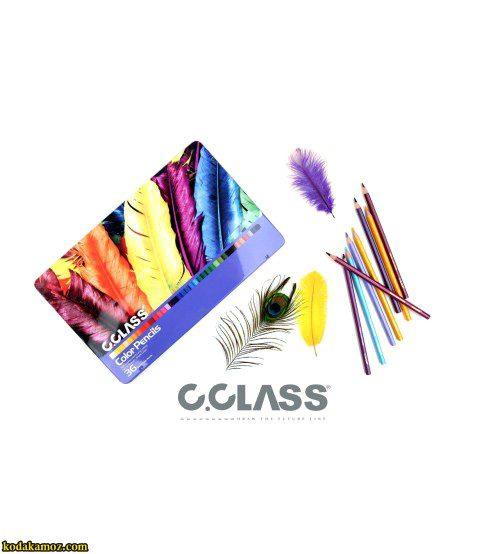 مداد رنگی36فلزی سی کلاس