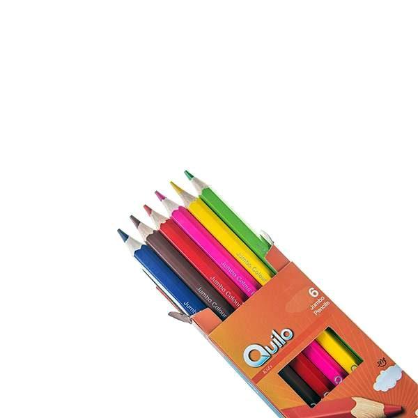 مداد رنگی 6 مقوایی جامبو کویلو