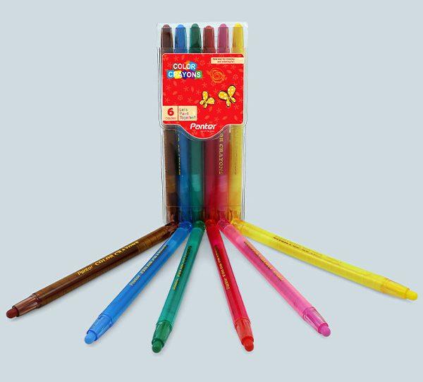 مداد شمعی 6 پیچی پنتر