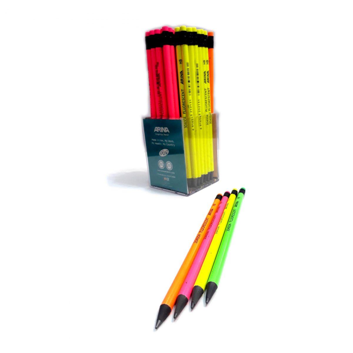 مداد مشکی ارنیا پاک کن دار