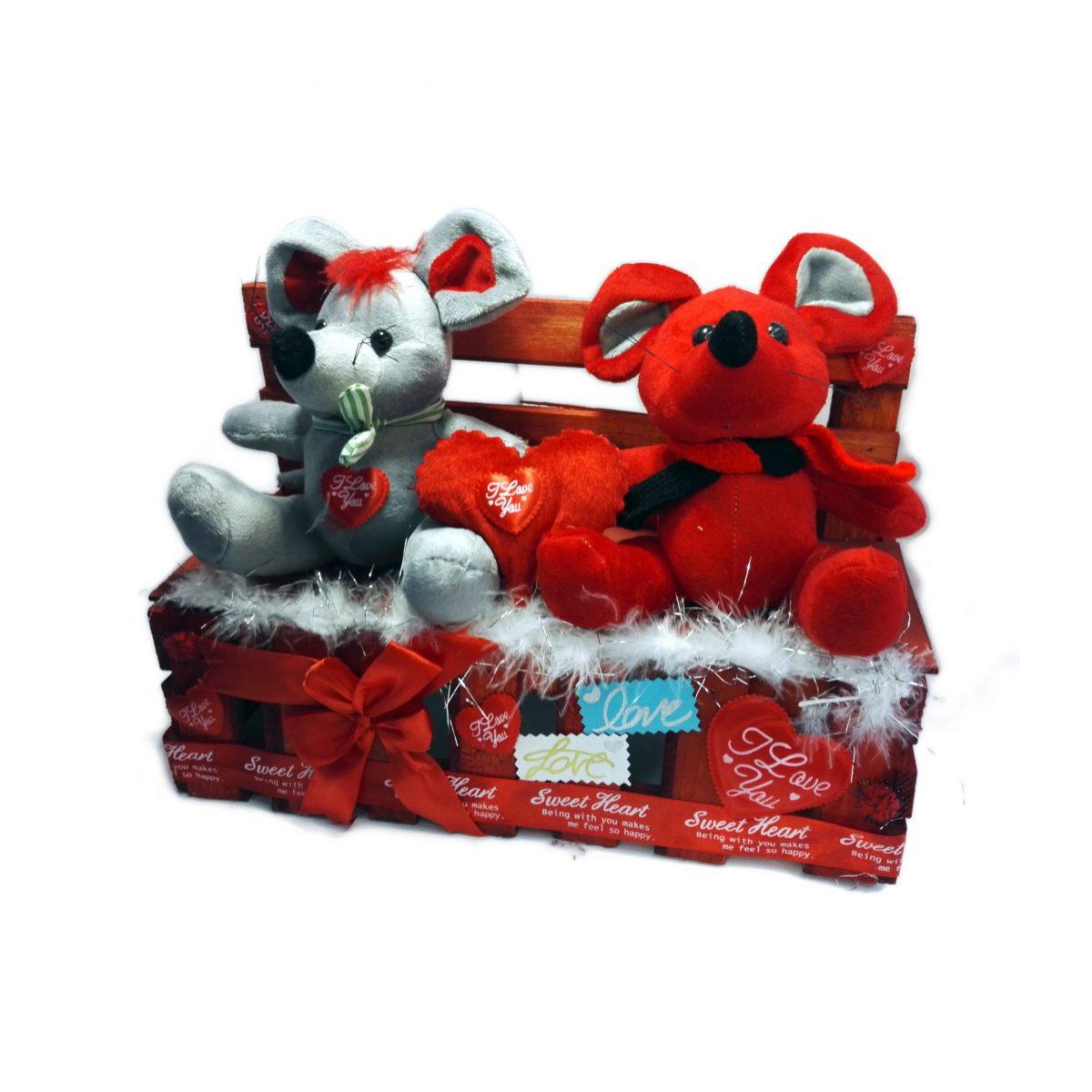 هدیه ولنتاین موش های عاشق ( جعبه موش های پولیشی )
