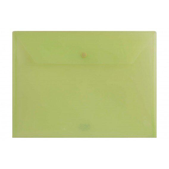 پوشه دکمه دار شفاف پاپکوسایز  A4